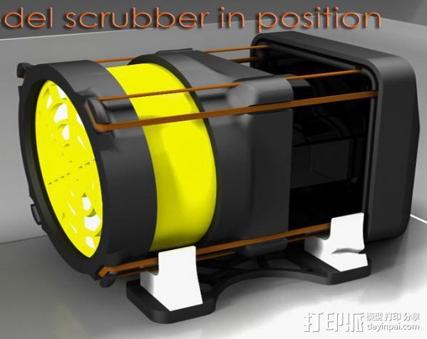 replicator 2/2X打印机排气式挤出机 3D打印模型渲染图