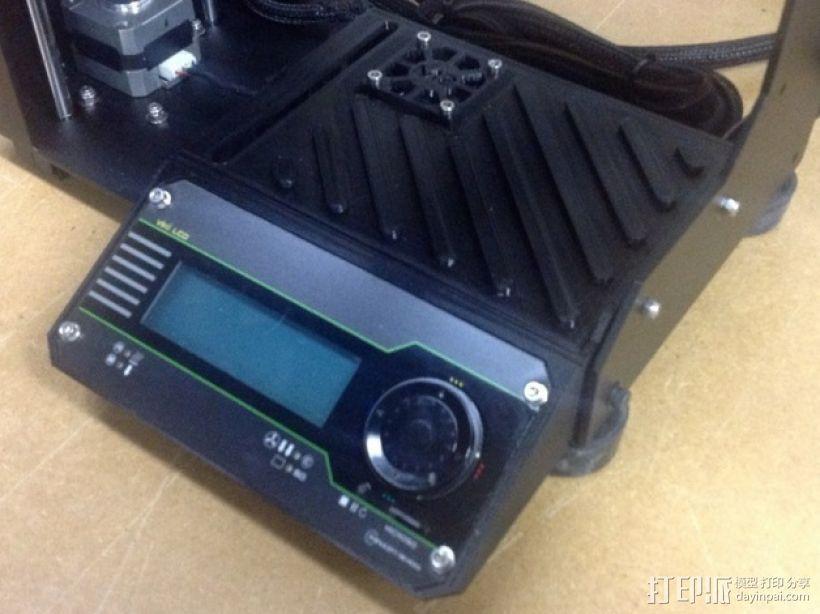 打印机LCD显示屏保护罩 3D打印模型渲染图