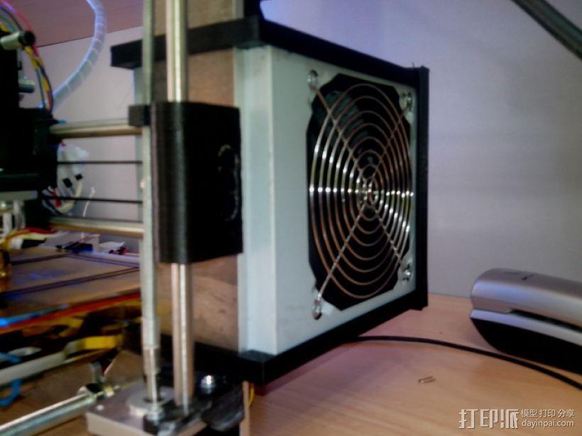 prusa i3 打印机电源保护罩 3D打印模型渲染图