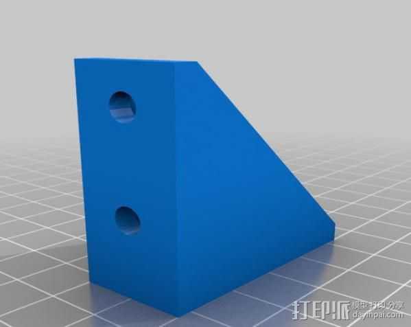 挤出机右边框架 3D打印模型渲染图