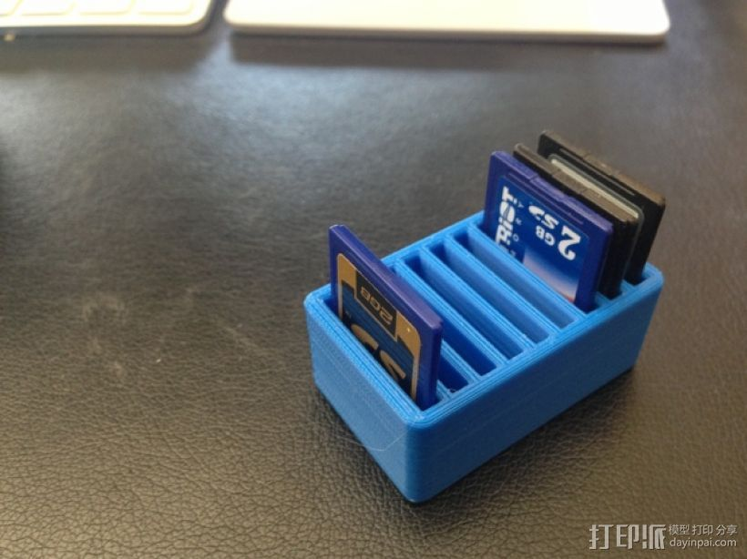 SD卡收纳盒 3D打印模型渲染图