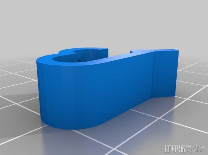 线圈夹 线材固定器 3D打印模型渲染图