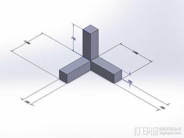 角度校准器 3D打印模型渲染图