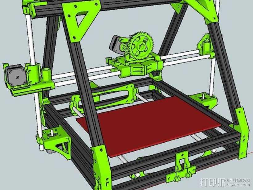 MendelMAX 打印机 3D打印模型渲染图