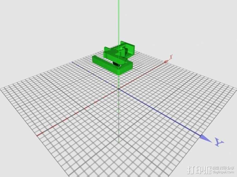 PrintrBot打印机锚链 3D打印模型渲染图