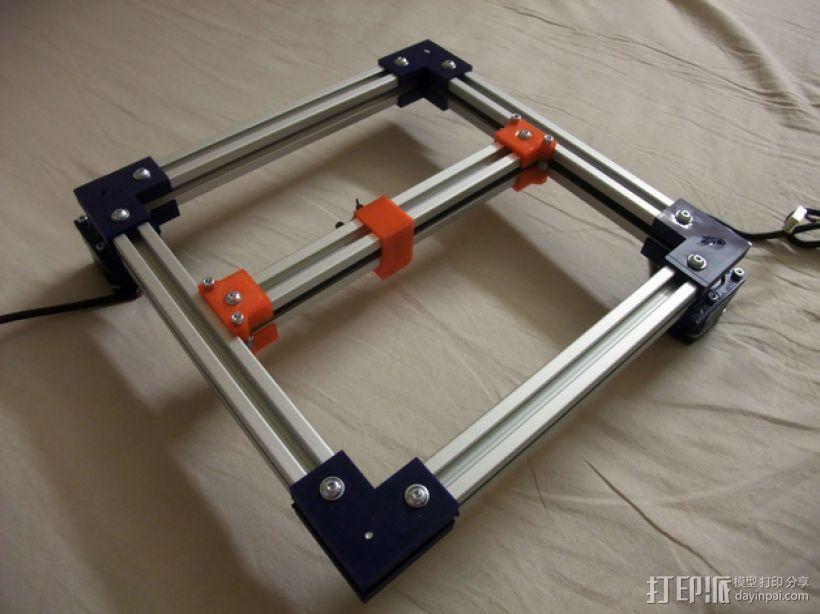 折叠式Mondrian 3D打印模型渲染图