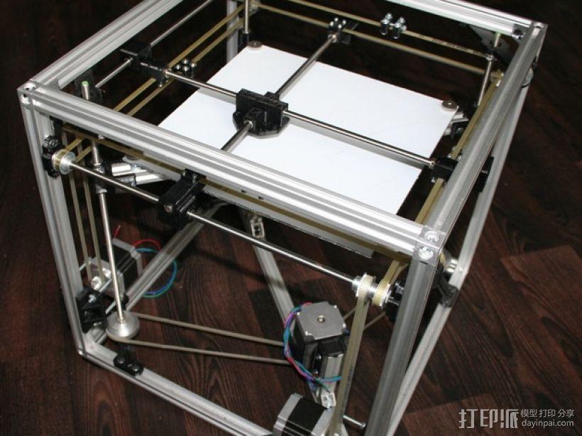 矩形盒式结构3D打印机 3D打印模型渲染图