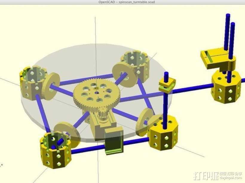 激光扫描仪 3D打印模型渲染图
