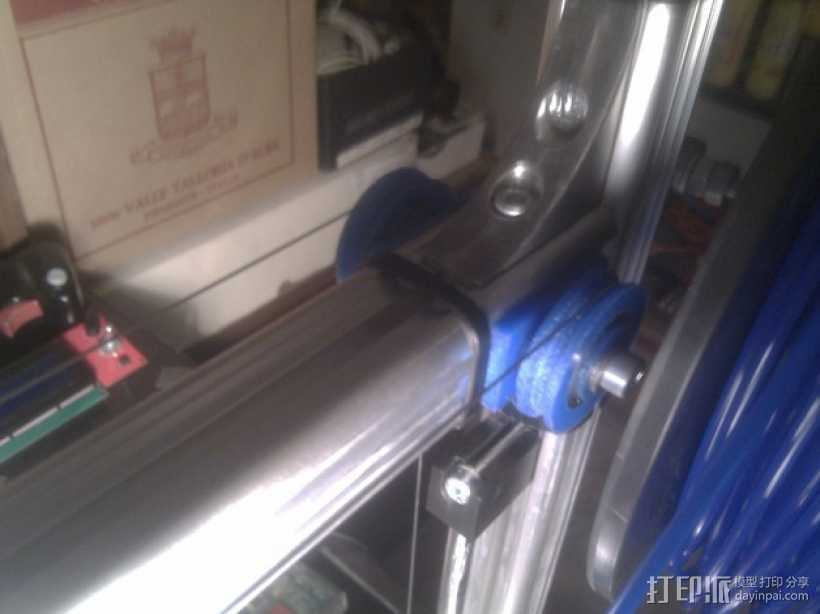 线材驱动轮 导线轮  3D打印模型渲染图