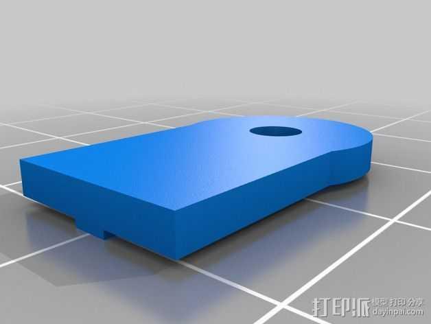皮带固定器 3D打印模型渲染图