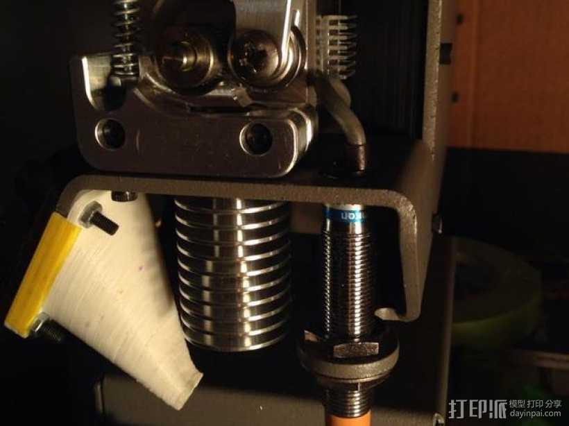 打印机喷头 3D打印模型渲染图