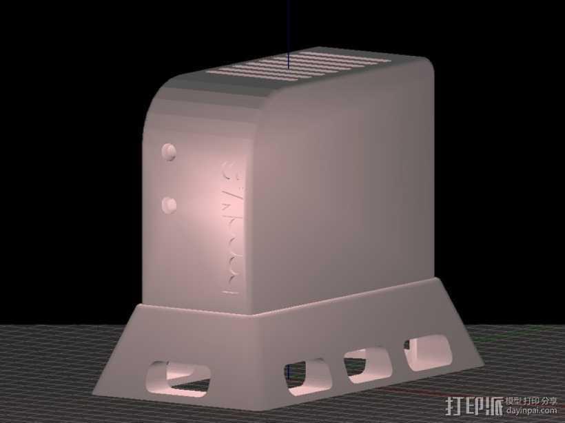 香蕉派单板电脑保护外盒 3D打印模型渲染图