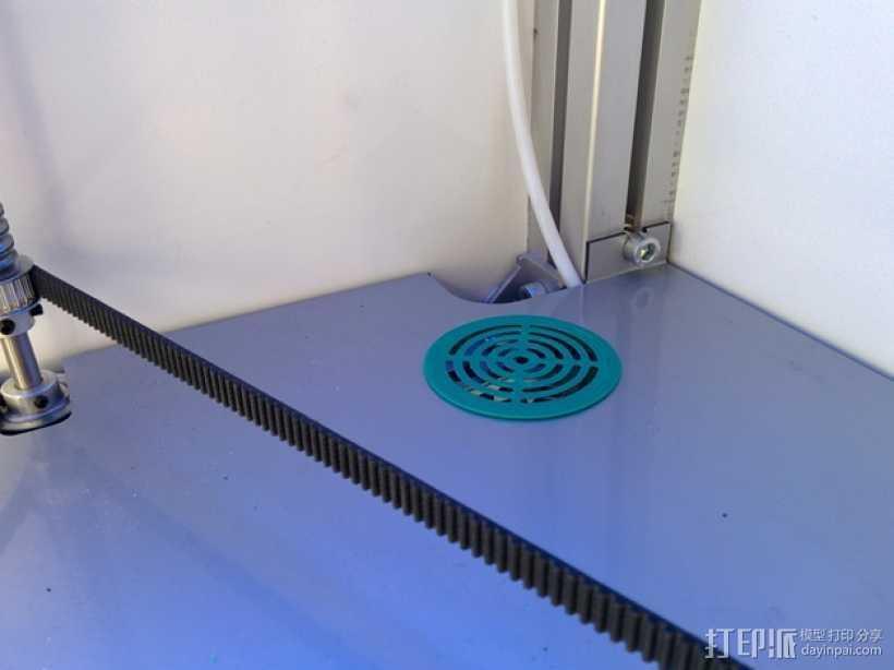 扇形孔覆盖罩 3D打印模型渲染图