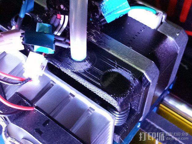 挤出机散热块 3D打印模型渲染图