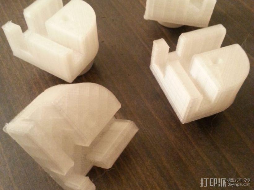 打印机角托 支撑脚 3D打印模型渲染图