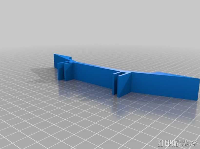 延伸支架 延伸支撑腿 3D打印模型渲染图