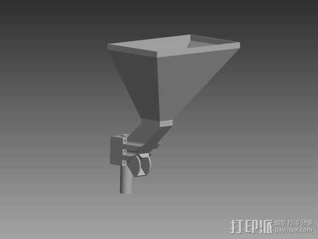 垂直漏斗 3D打印模型渲染图