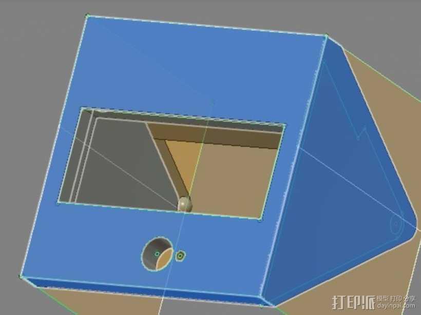 打印机控制器显示屏外壳 3D打印模型渲染图