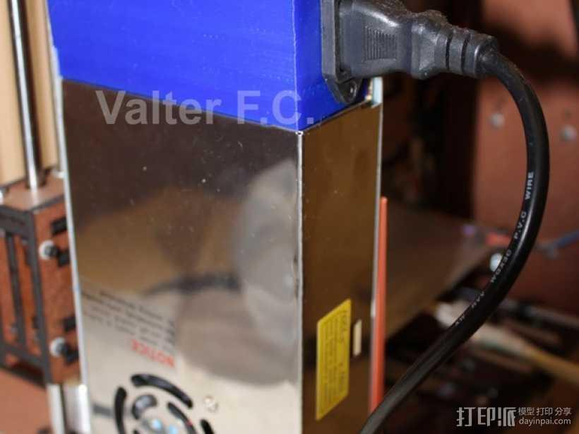 电源保护壳 3D打印模型渲染图