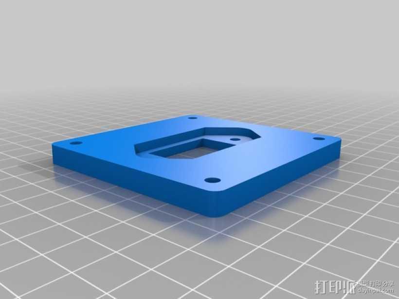 电源插座面板 3D打印模型渲染图