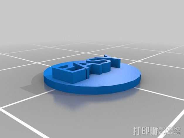 3D打印按钮 3D打印模型渲染图
