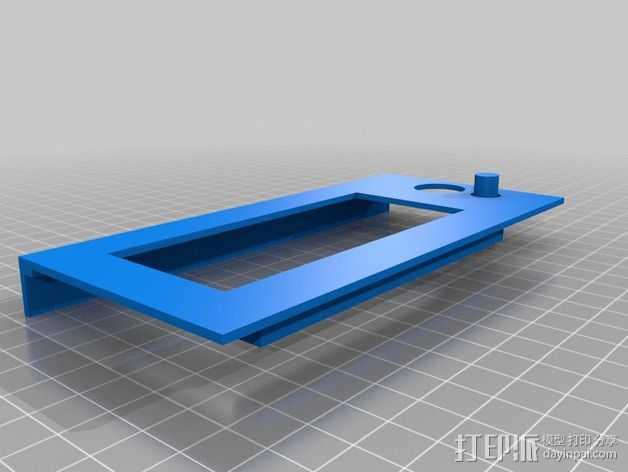 控制器前面板 3D打印模型渲染图