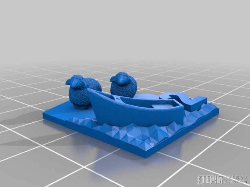 绵羊 港口  3D打印模型渲染图