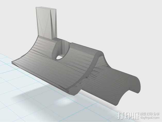 挤出机部件 3D打印模型渲染图