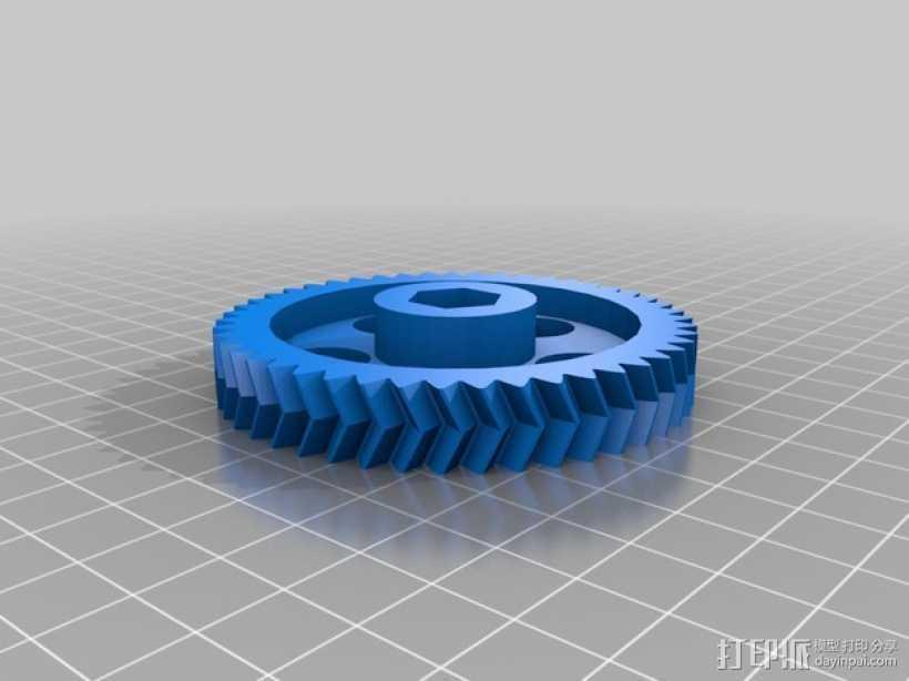 滚铣齿轮 3D打印模型渲染图