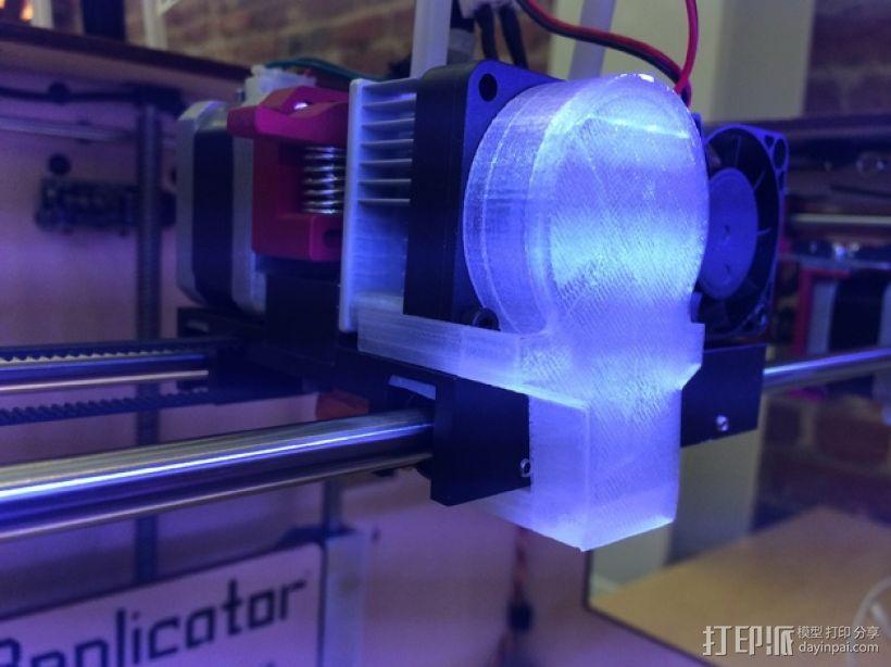 风扇导管夹 3D打印模型渲染图
