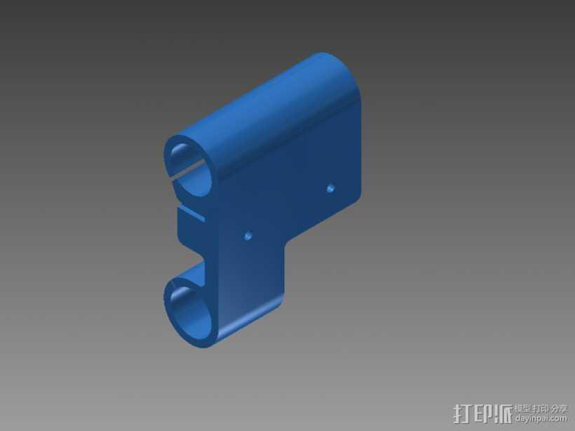 Prusa i3打印机X轴机箱框架 3D打印模型渲染图