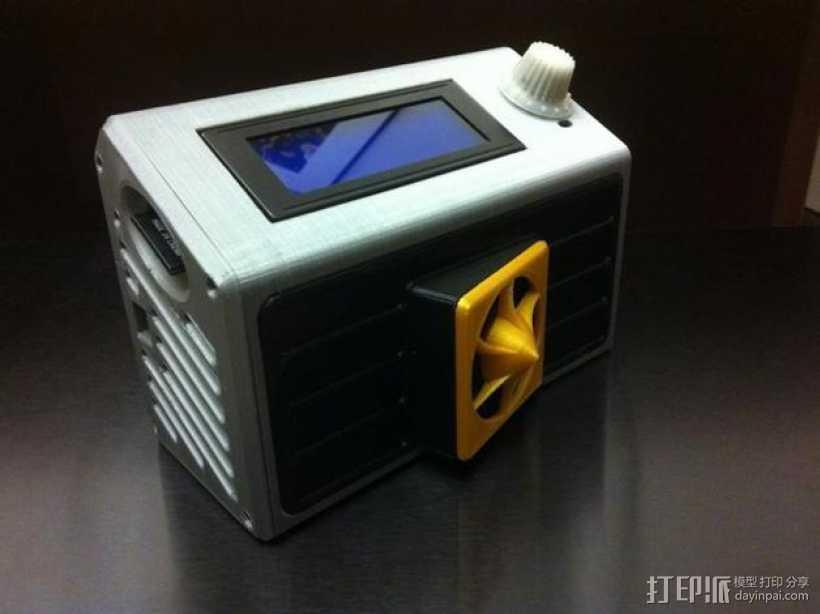 智能控制器LCD保护盒 3D打印模型渲染图