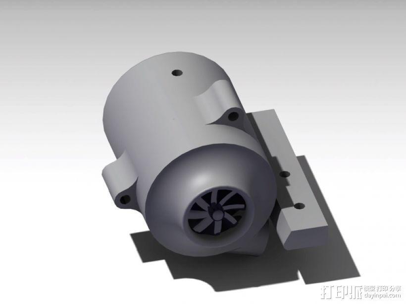 涡轮式风扇 3D打印模型渲染图