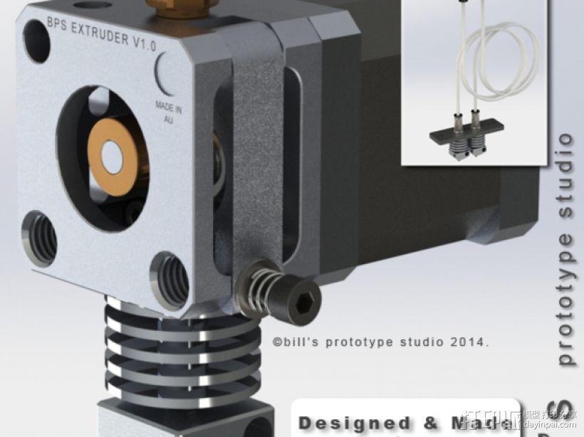 挤出机适配器 3D打印模型渲染图