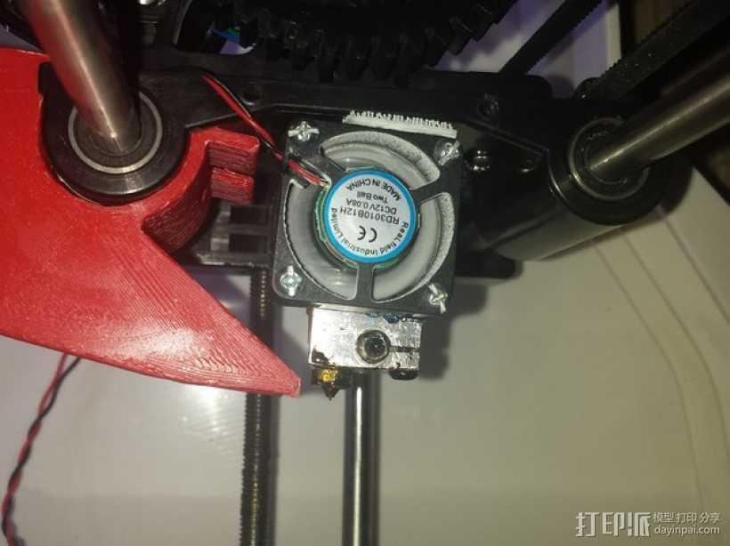 前置风扇导管 3D打印模型渲染图