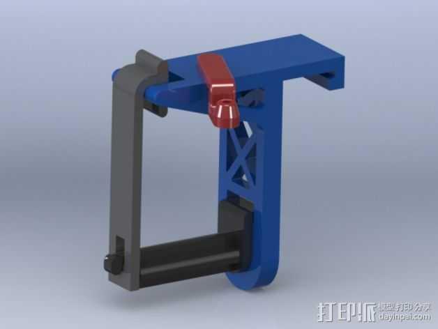 带导线环的线轴架 3D打印模型渲染图