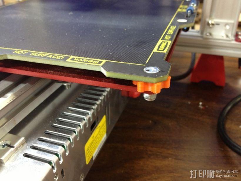 打印床调平套件 3D打印模型渲染图