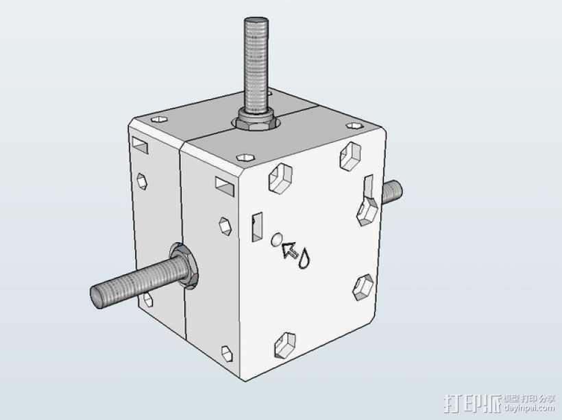 Nema 17步进电机电机盒 3D打印模型渲染图