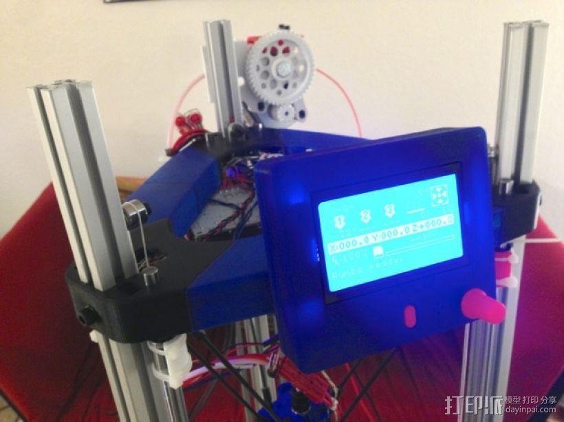 打印机控制器显示屏支架 3D打印模型渲染图