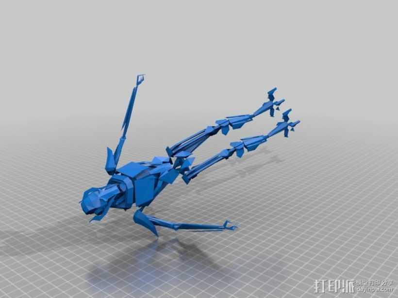 星球大战 格里弗斯将军 3D打印模型渲染图