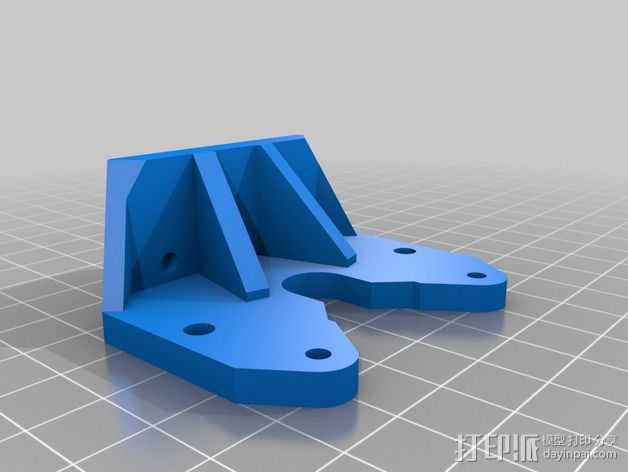 Prusa i3打印机适配器 3D打印模型渲染图