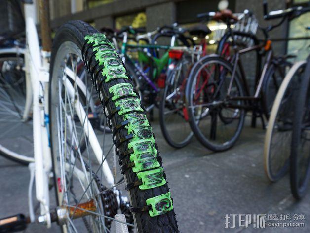 自行车轮胎纹 3D打印模型渲染图