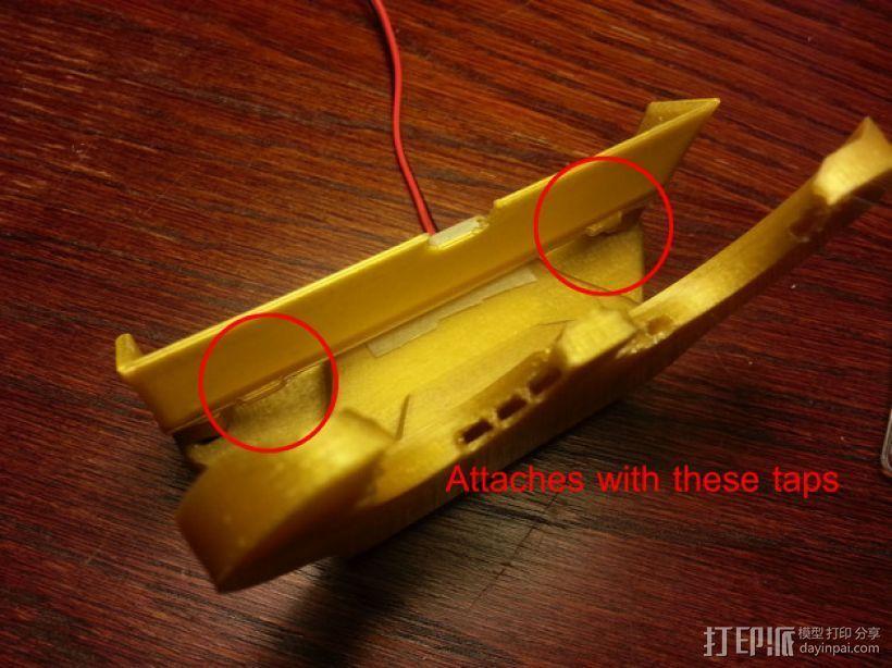 风扇导管支架 3D打印模型渲染图
