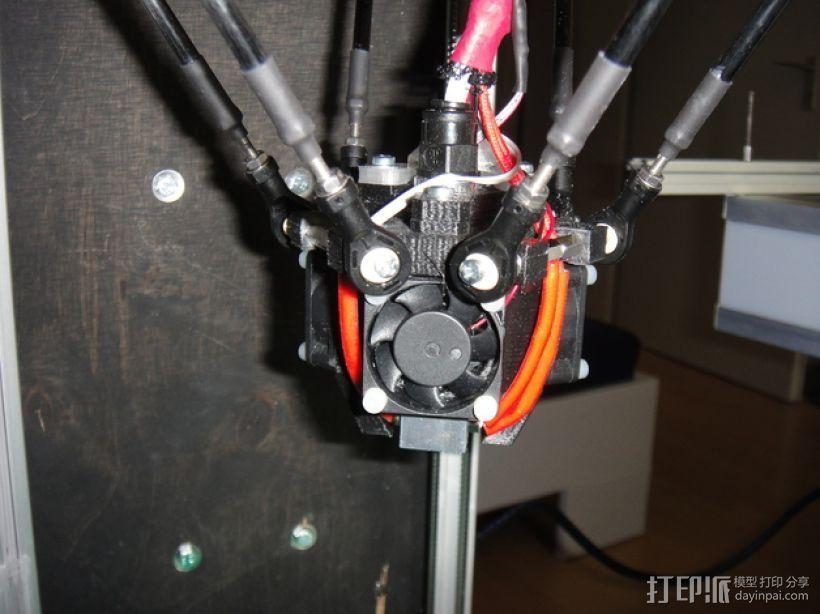 喷嘴支架 风扇支架 3D打印模型渲染图