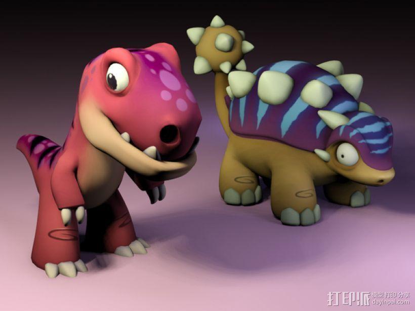 小恐龙 3D打印模型渲染图