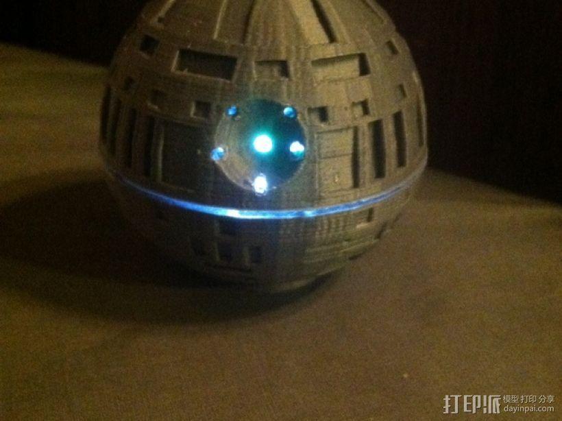 死亡星球球形灯 3D打印模型渲染图
