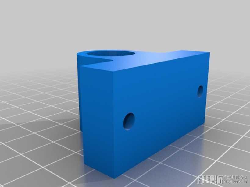 One-Up/Two-Up打印机Y轴轴承支架 3D打印模型渲染图