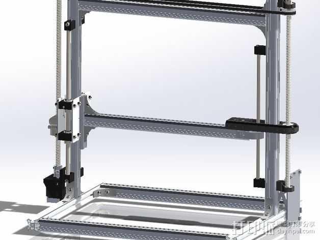 Velleman K8200打印机Z轴 3D打印模型渲染图