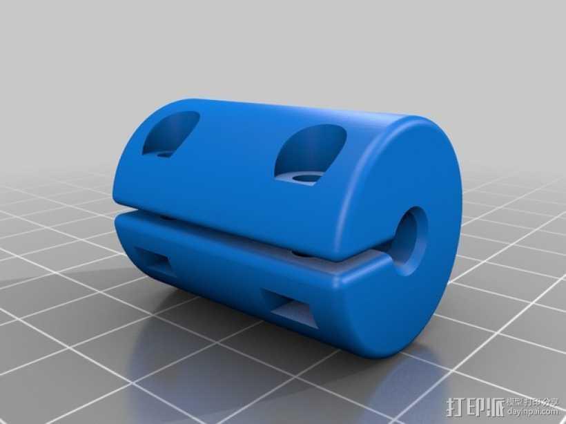 打印机Z轴耦合器 3D打印模型渲染图