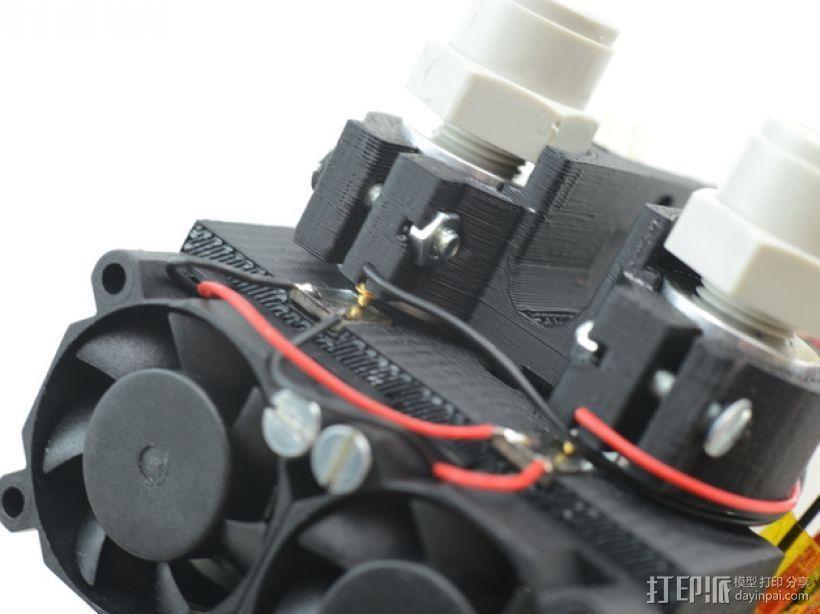 双喷头支架 3D打印模型渲染图
